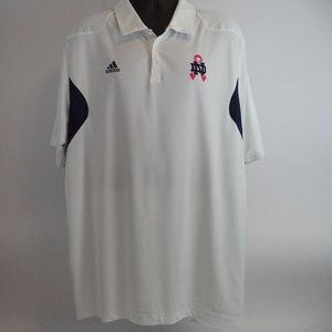 Adidas Men's Notre Dame Golf Polo 2XL CL555 0419